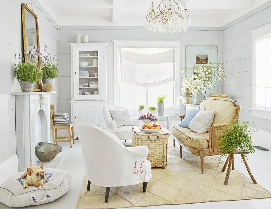 Idee per arredare un soggiorno in stile rustico chic n.01