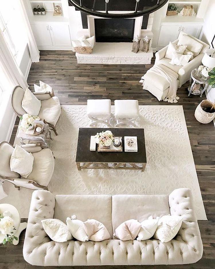 Idee per arredare un soggiorno in stile rustico chic n.03