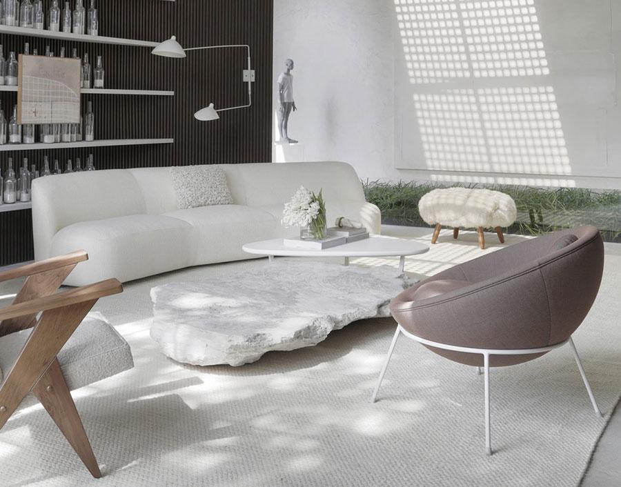 Idee per arredare un soggiorno in stile rustico moderno n.02