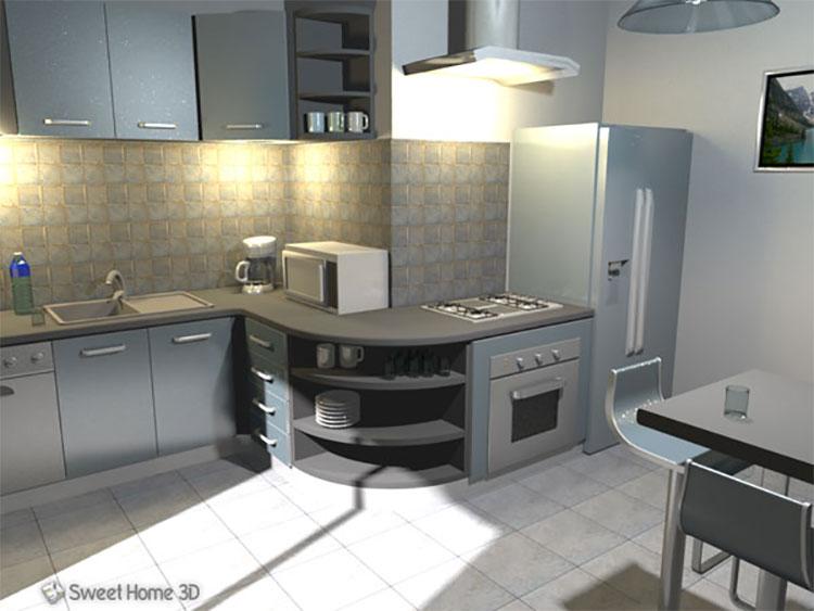 Progetto di interni realizzato con Sweet Home 3D