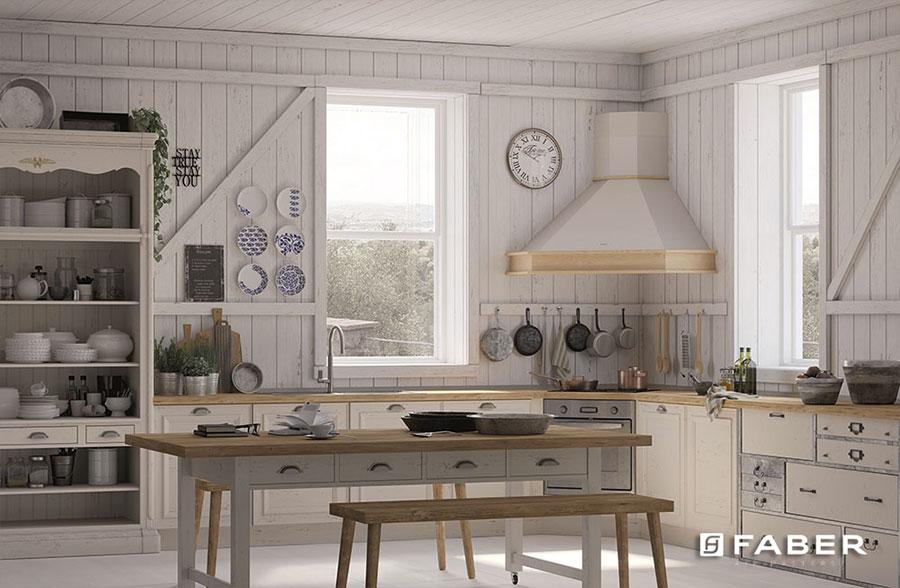 Modello di cucina shabby chic Faber n.3