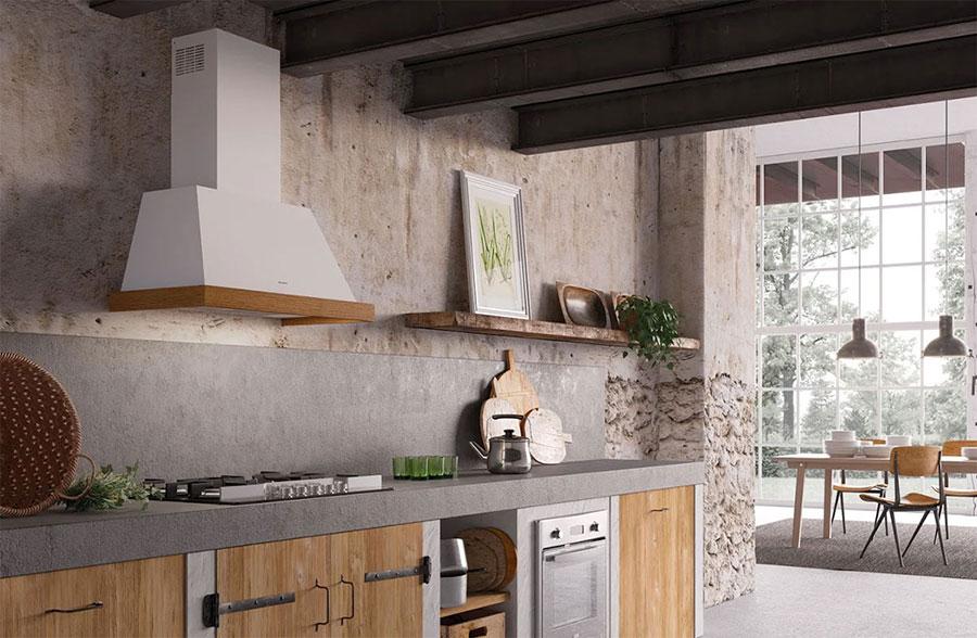Idee di arredamento per una cucina rustica n.06