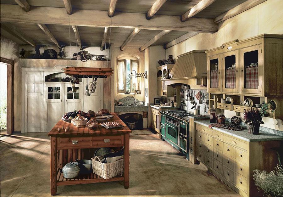 Idee di arredamento per una cucina rustica n.07