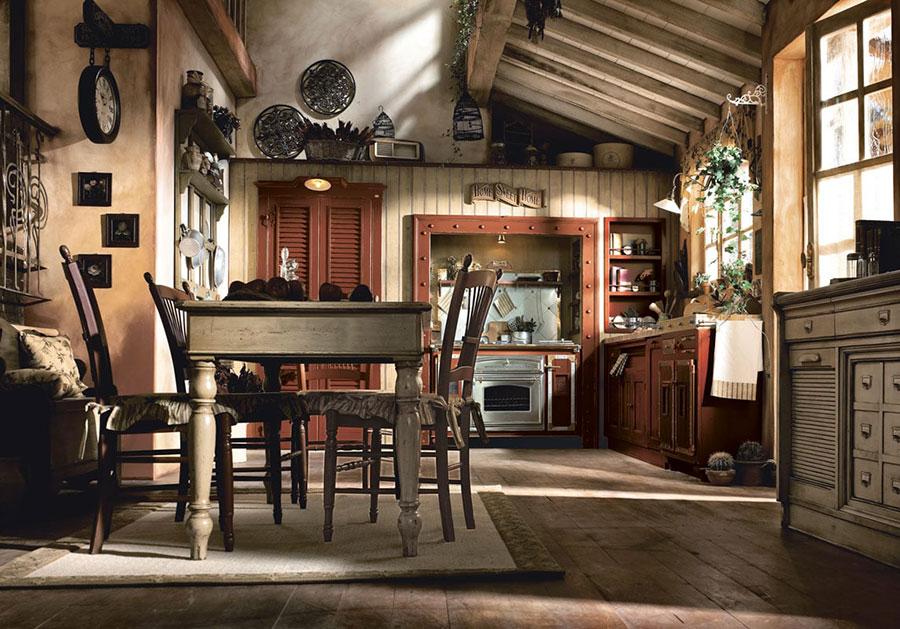 Idee di arredamento per una cucina rustica n.08