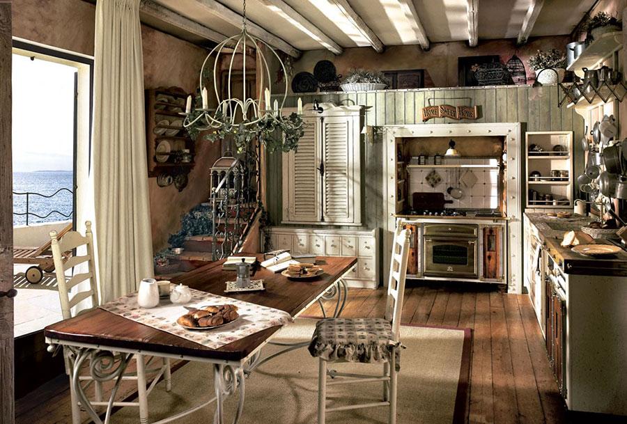 Idee di arredamento per una cucina rustica n.09