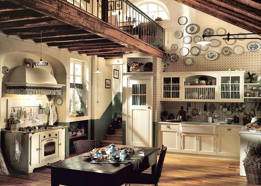 Idee di arredamento per una cucina rustica n.10