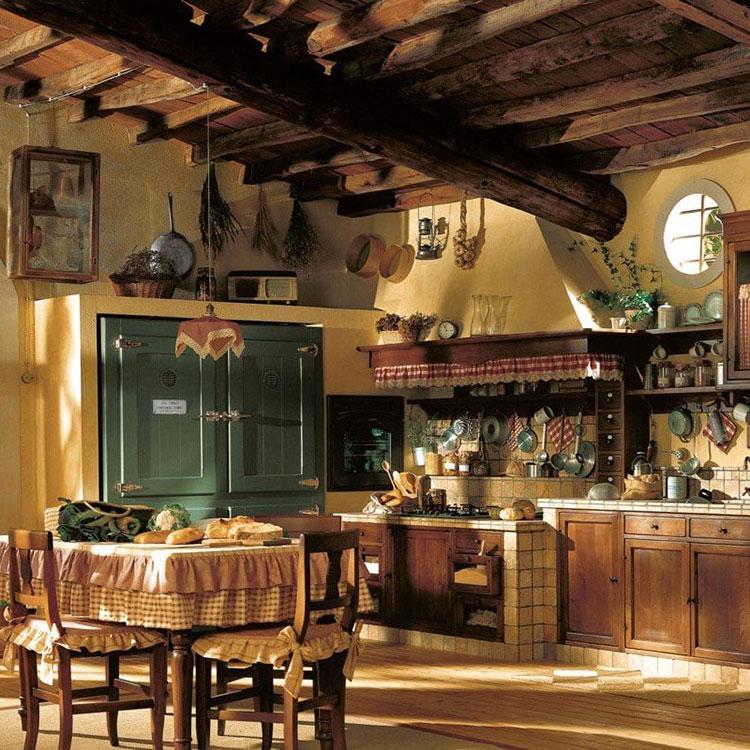 Idee di arredamento per una cucina rustica n.11