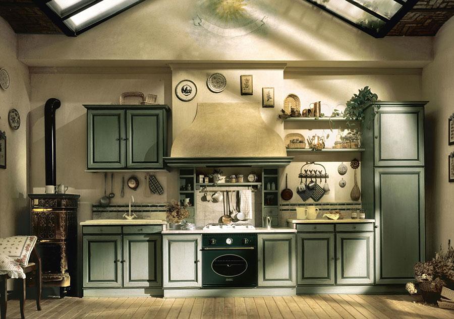 Idee di arredamento per una cucina rustica n.12