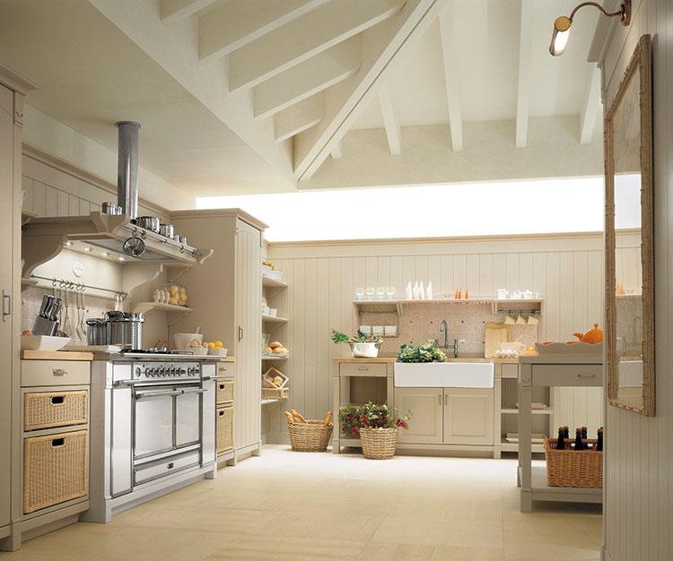 Modello di cucina shabby chic Minacciolo n.1