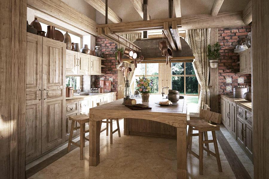 Idee di arredamento per una cucina rustica n.25