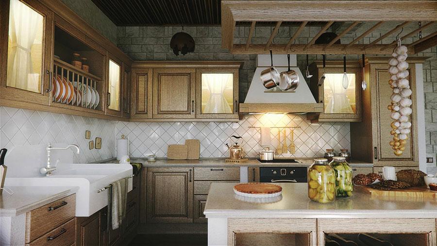 Idee di arredamento per una cucina rustica n.26