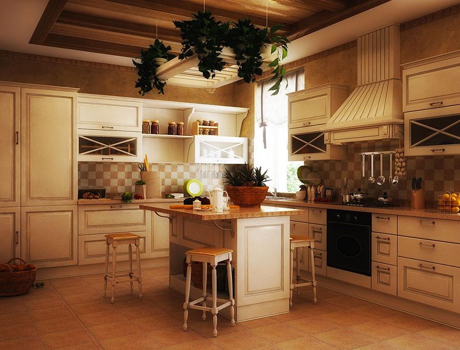Idee di arredamento per una cucina rustica n.27