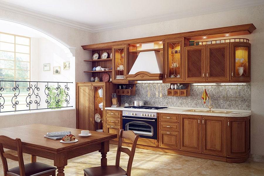 Idee di arredamento per una cucina rustica n.29
