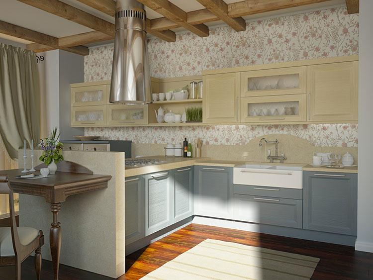 Idee di arredamento per una cucina rustica n.30