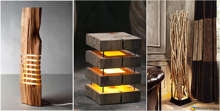 30 idee per lampade in legno fai da te mondodesign.it