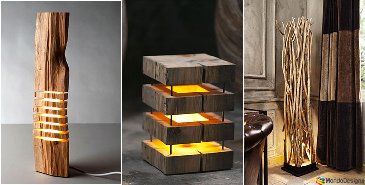 30 idee per lampade in legno fai da te for Fai da te creazioni