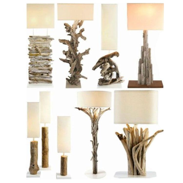 Modello di lampada da tavolo in legno fai da te n.06