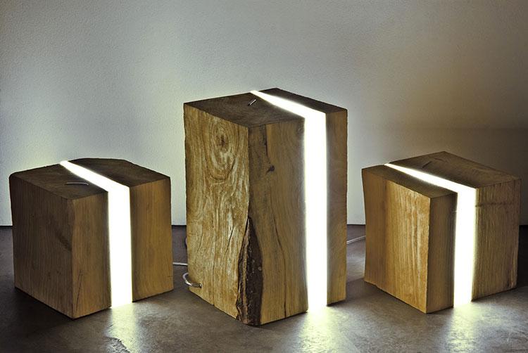 Modello di lampada da tavolo in legno fai da te n.07