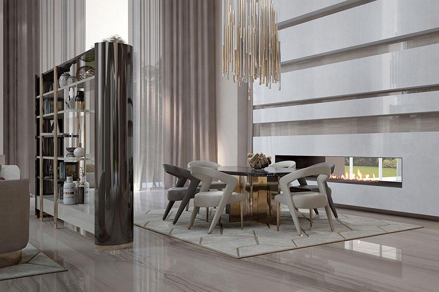 Arredamento per soggiorno classico moderno Bizzotto 02