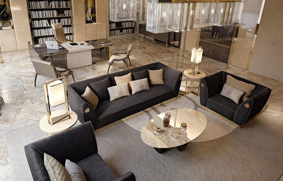 Arredamento per soggiorno classico moderno Bizzotto 04