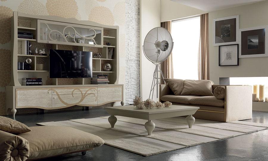 Arredamento soggiorno classico moderno 23 idee delle for Arredamento casa bianco