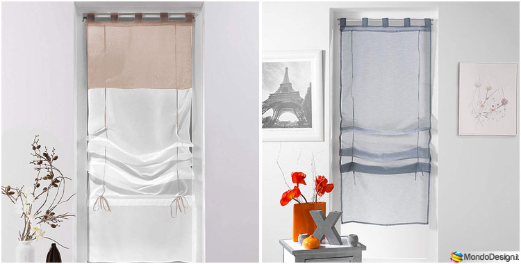 20 modelli di tende a vetro moderne in vendita online for Design vendita on line