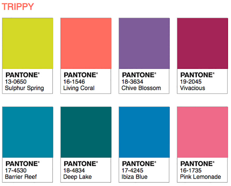 Abbinamenti Pantone 2019 Living Coral Trippy