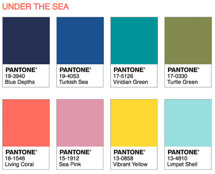 Abbinamenti Pantone 2019 Living Coral Under The Sea