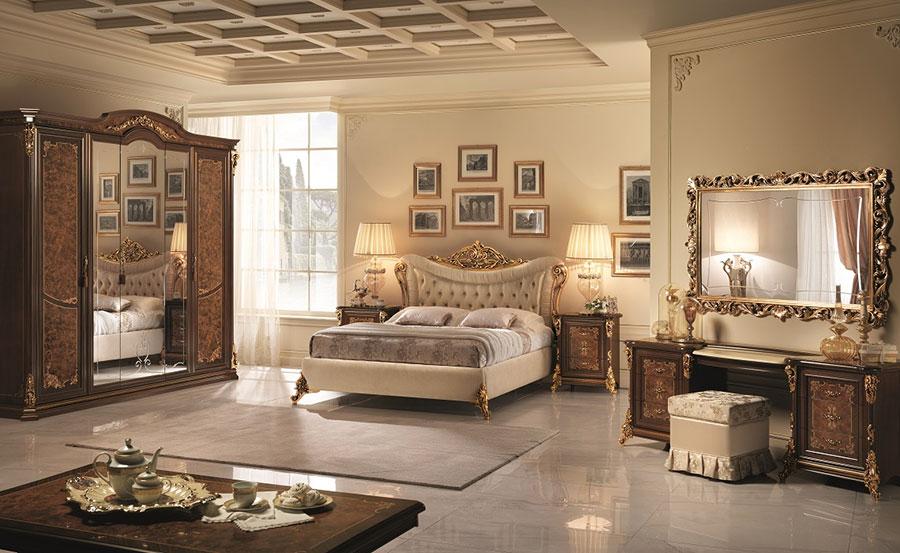 Camera da letto di lusso classica di Arredoclassic 01