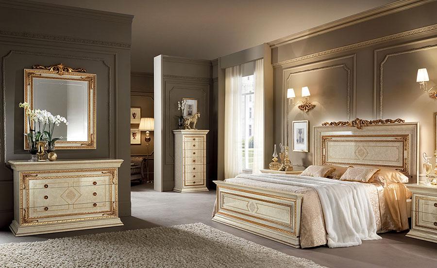 Camera da letto di lusso classica di Arredoclassic 03