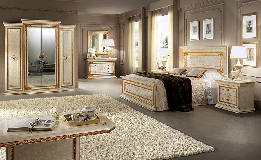 Camera da letto di lusso classica di Arredoclassic 04