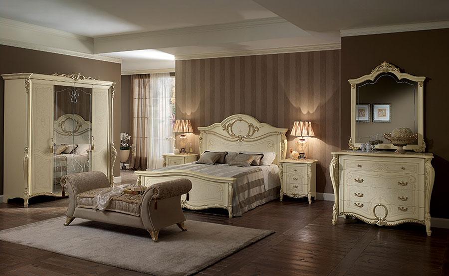 Camera da letto di lusso classica di Arredoclassic 05