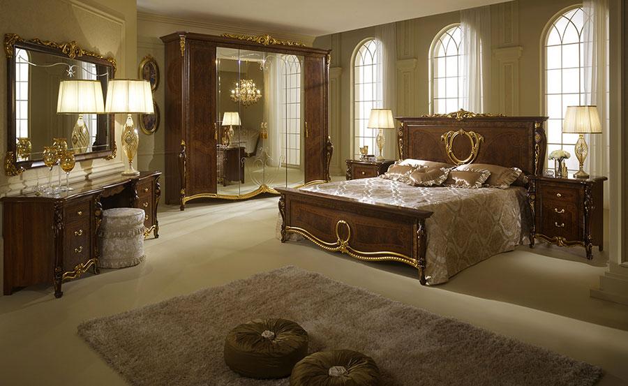 Camera da letto di lusso classica di Arredoclassic 06