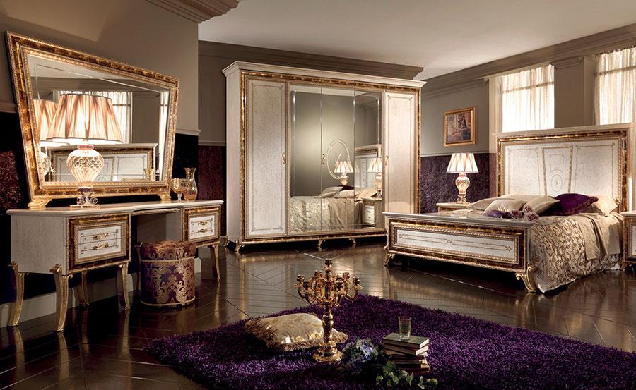 Camera da letto di lusso classica di Arredoclassic 08