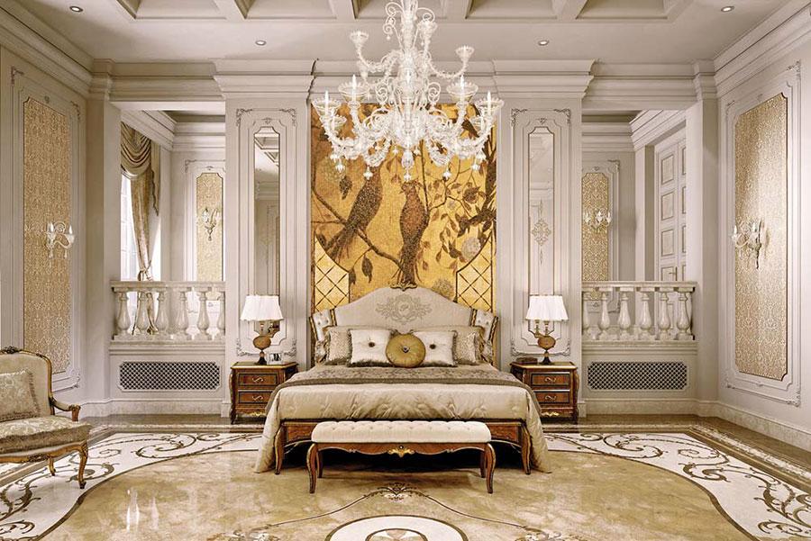 Camera da letto di lusso classica di Pregno 02