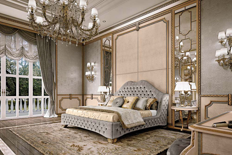 Camera da letto di lusso classica di Pregno 03