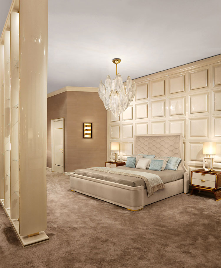 30 camere da letto di lusso in stile classico for Camere da letto stile contemporaneo
