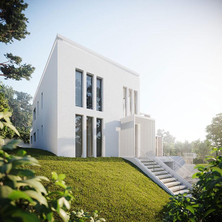 Foto della casa da sogno con interni di lusso in legno e pietra n.01
