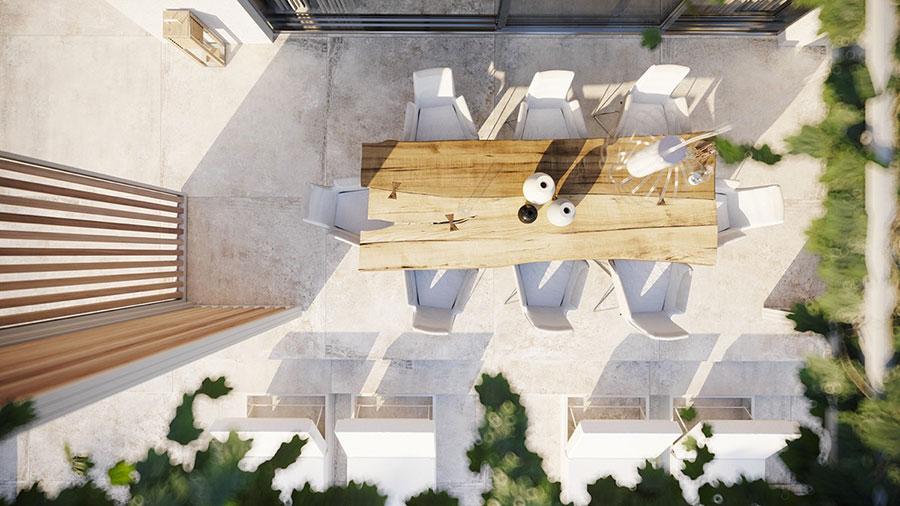Foto della casa da sogno con interni di lusso in legno e pietra n.11