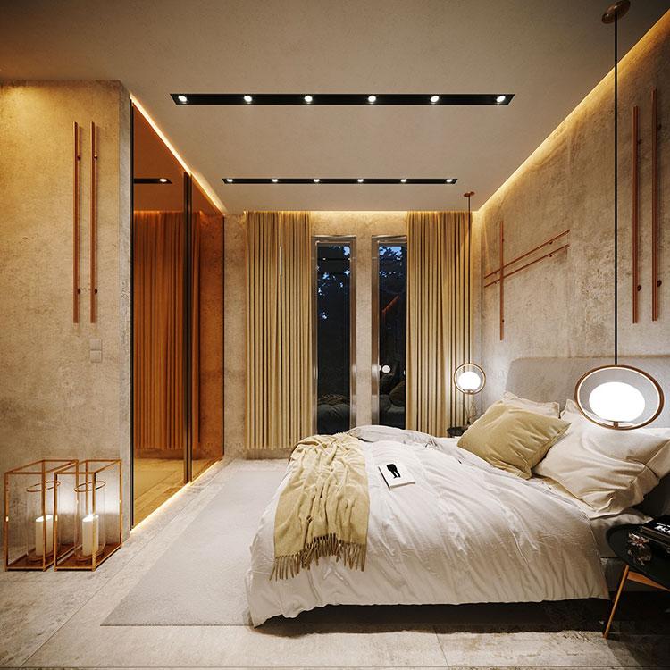 Foto della casa da sogno con interni di lusso in legno e pietra n.15