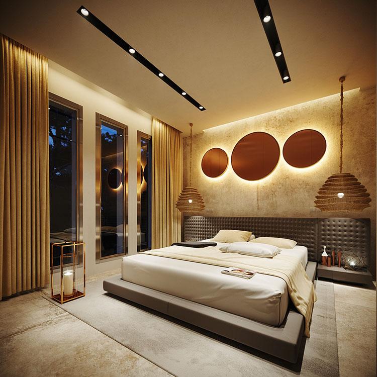 Foto della casa da sogno con interni di lusso in legno e pietra n.19