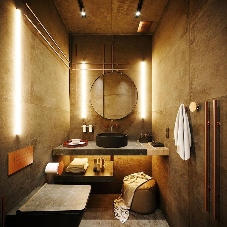 Foto della casa da sogno con interni di lusso in legno e pietra n.20