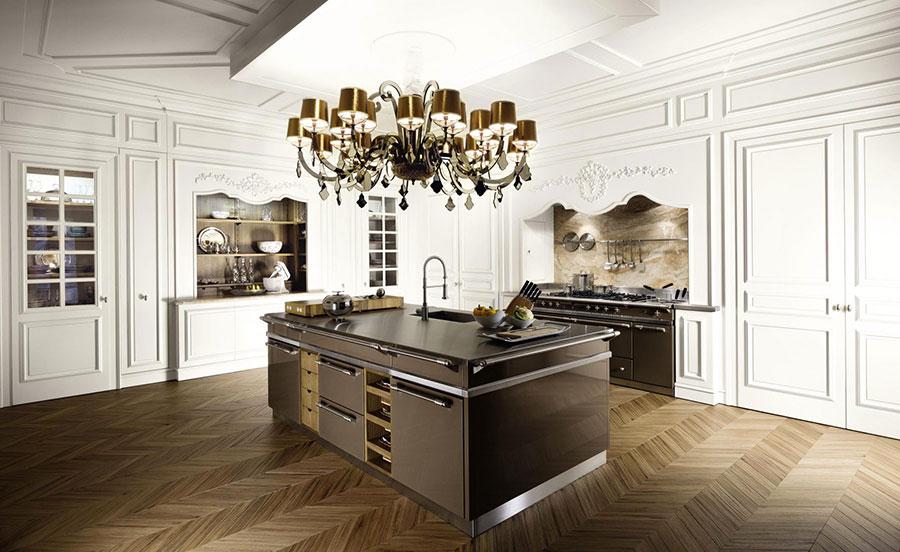 Modello di cucina classica con isola centrale de L'Ottocento n.03