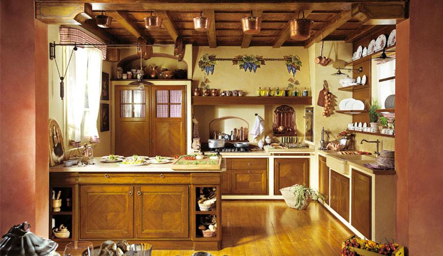 Modello di cucina classica con isola centrale de L'Ottocento n.06