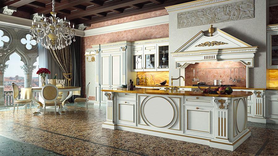 Modello di cucina classica con isola centrale di GD Arredamenti n.03