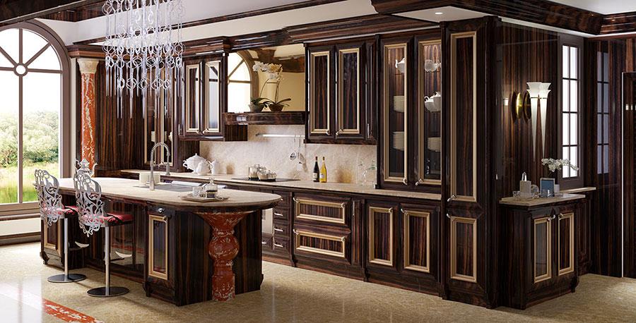 Modello di cucina classica con isola centrale di Brummel n.01