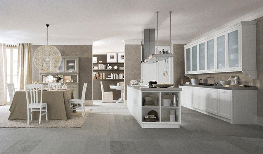 Modello di cucina classica con isola centrale di Scandola n.01