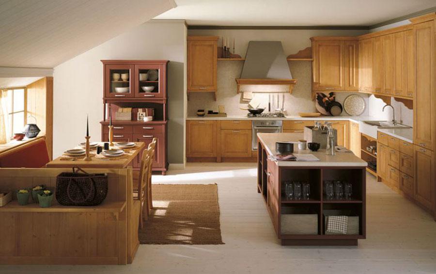 Modello di cucina classica con isola centrale di Scandola n.02
