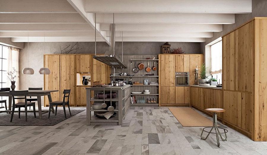 Modello di cucina classica con isola centrale di Scandola n.03
