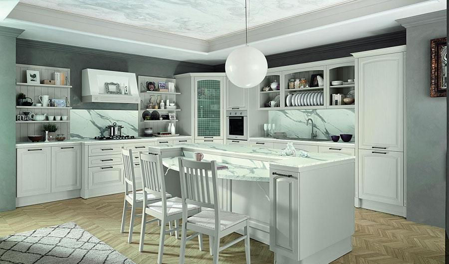 Modello di cucina classica con isola centrale di Colombini Casa n.01